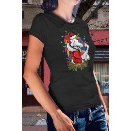 Karácsonyi unikornisos póló