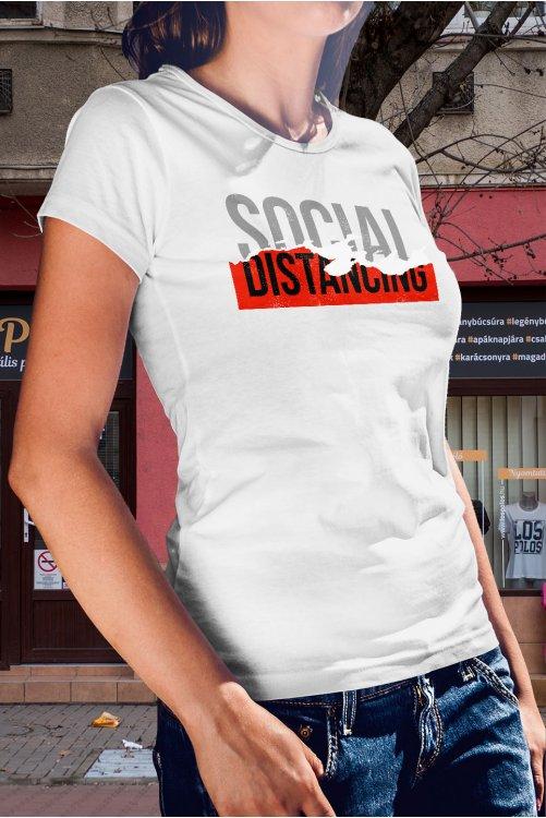 Social distancing póló