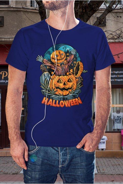 Tökfej halloweeni póló