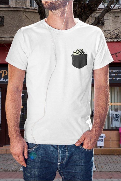 Pénztárca zsebmintás póló