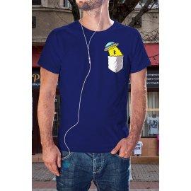 UFO zsebmintás póló
