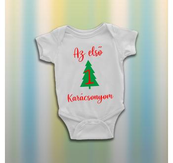 Fenyőfás karácsonyi baba body
