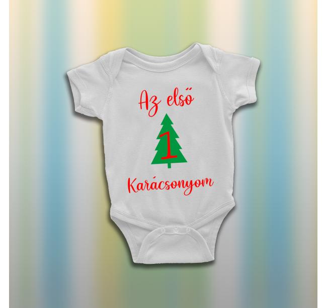 Fenyőfás karácsonyi baba body...