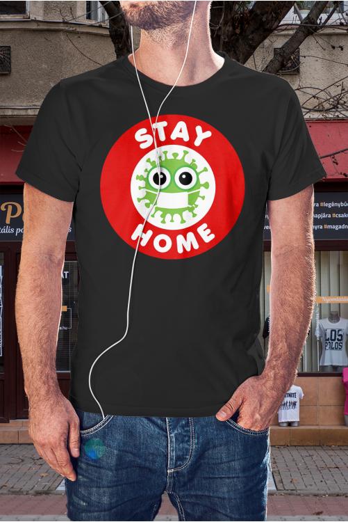 Koronavírus-maradj otthon póló