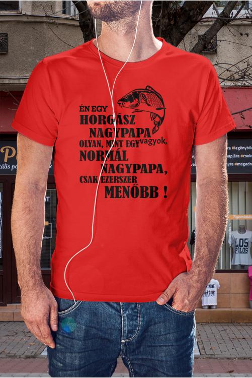 Menő horgász nagypapa póló