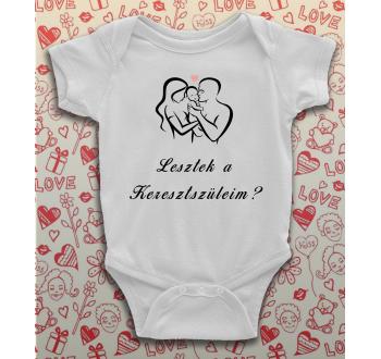 Keresztszülő felkérő baba body