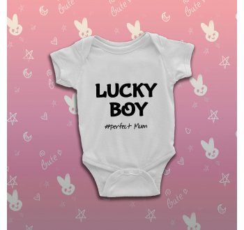 Szerencsés fiús baba body