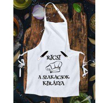 A szakácsok királya kötény - egyedi névvel