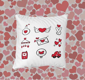 Szerelmes ikonos párna