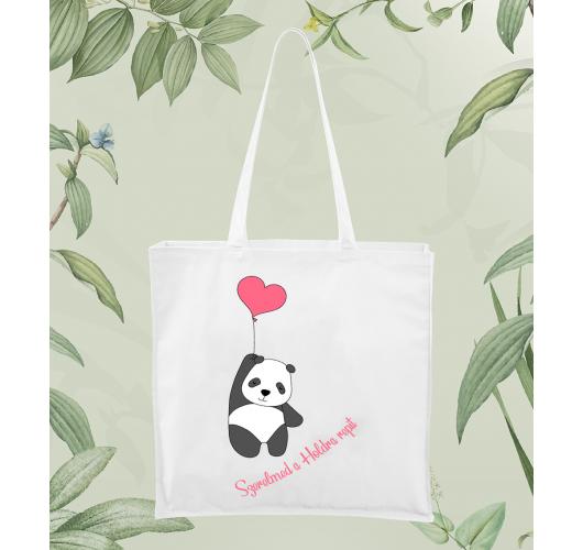 Szerelmes panda vászontáska