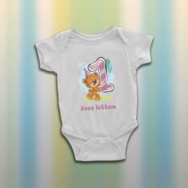 Egy éves lettem - Macis baba body
