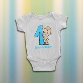 Egy éves lettem fiús - baba body