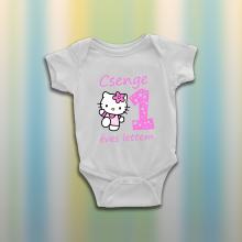Hello Kitty baba body - egyedi névvel és életkorral