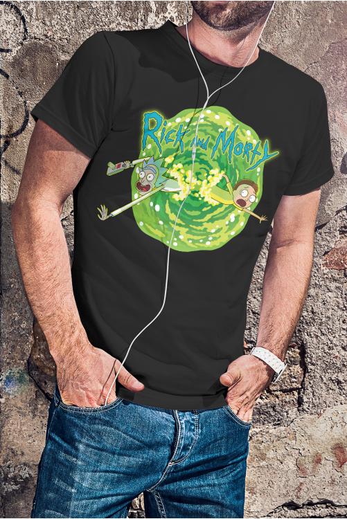 Rick és Morty portál póló