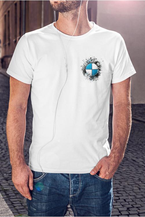 Koptatott BMW póló