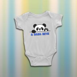 Pandás baba body - egyedi névvel