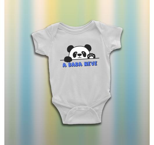 Pandás baba body - egyedi névv...