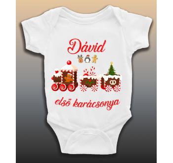 Dávid első karácsonya baba body