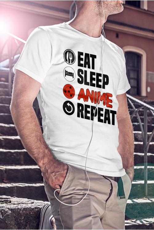Eat sleep anime repeat póló