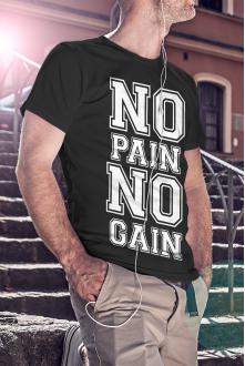 No pain no gain póló