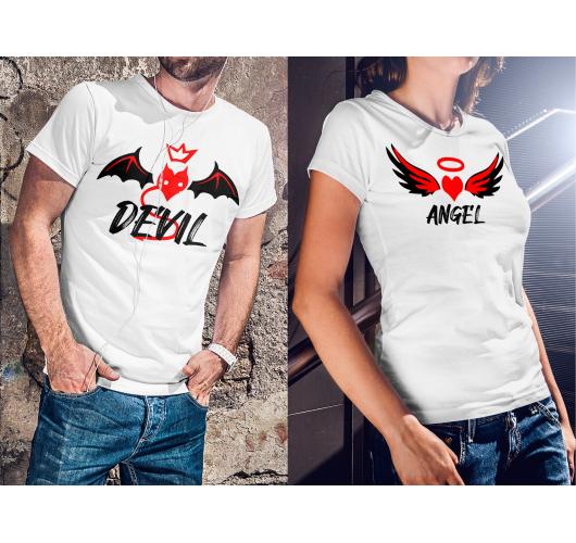 Angyal és Ördög páros pólók...
