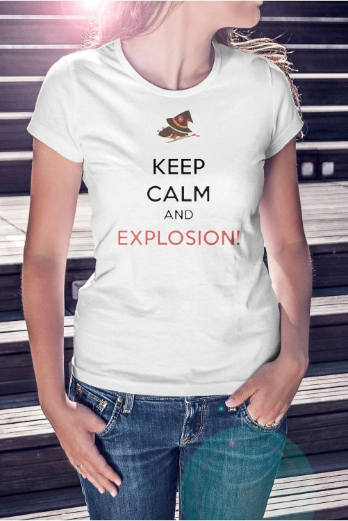 Keep calm and explosion póló