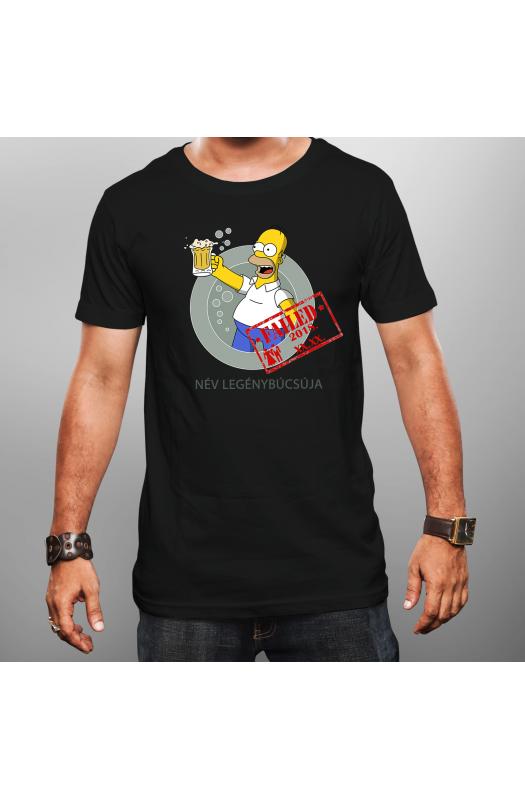 Homer Simpson legénybúcsús póló