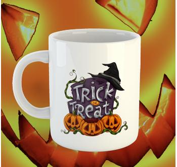 Halloweenes Trick or Treat bögre