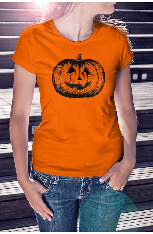 Halloween tökös póló