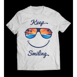 Keep Smiling  póló - Pozitív embereknek