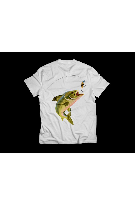 Horgászos póló, SAJÁT névvel! (Dupla oldalas)