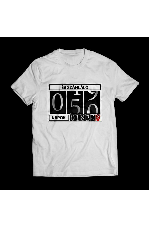 Születésnapra póló, egyedi évszámláló megadásával!