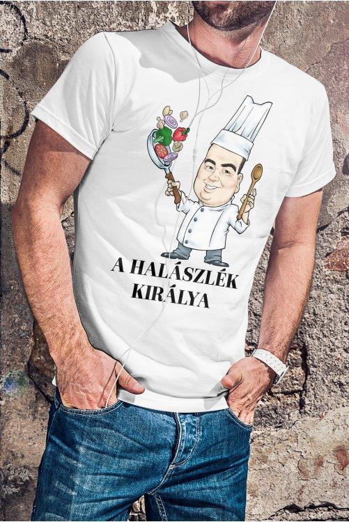 Halászlé (választható szöveg) póló szakácsoknak