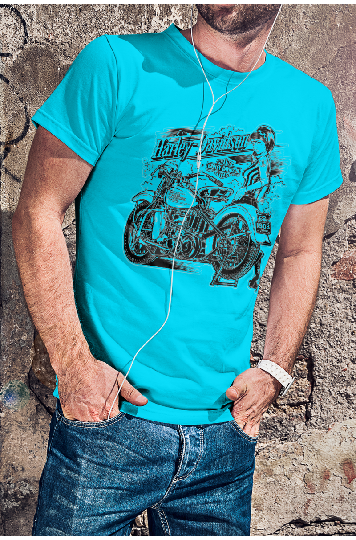Harley Davidson Csajos Motoros póló