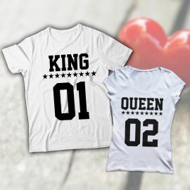 King és Queen páros póló