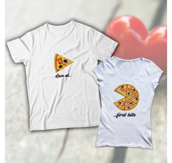 Pizzás páros póló