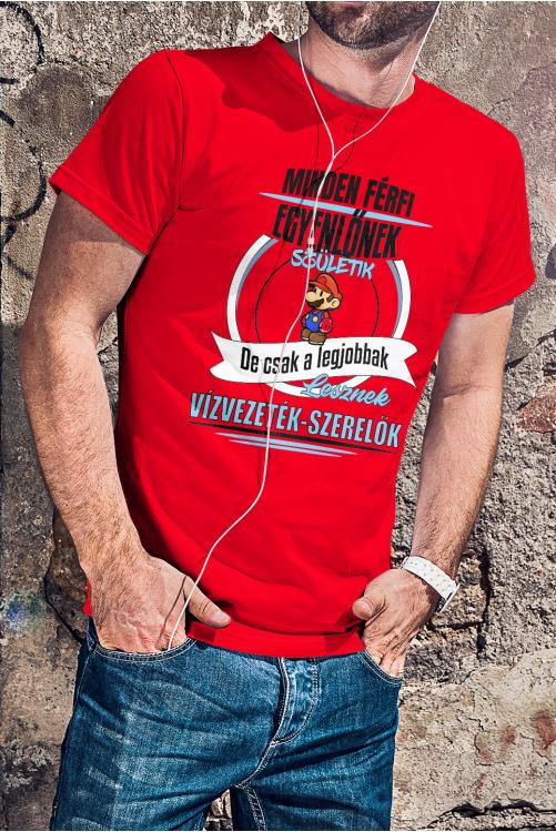 Super Mario-s vízvezeték szerelő póló