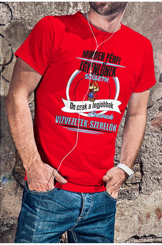Super Mario-s vízvezeték-szerelő póló