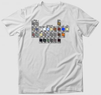 Minecraft periódusos rendszer póló