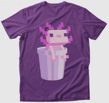 Minecraft axolotl a vödörben póló