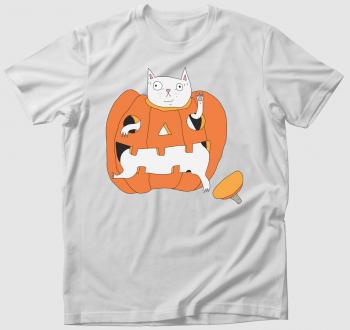 Tökbe szorult macska - póló
