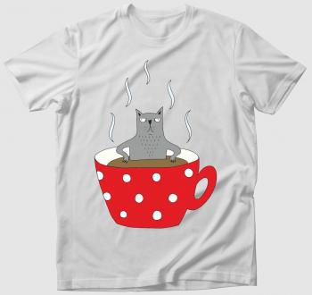 Mokkás szürke macska - póló