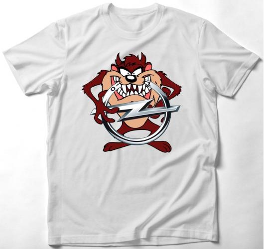 Opel tasmán ördög póló