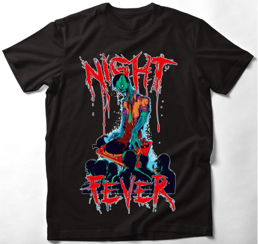 Zombi DJ - Night Fever póló