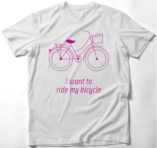 Biciklis póló - I want to ride...