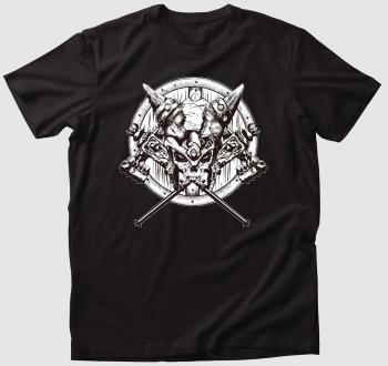 Viking koponyás póló