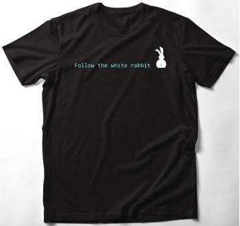 Follow the white rabbit női póló