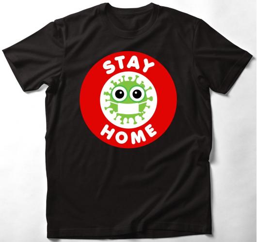 Koronavírus-maradj otthon póló...