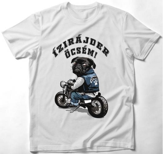Motoros kutyás póló