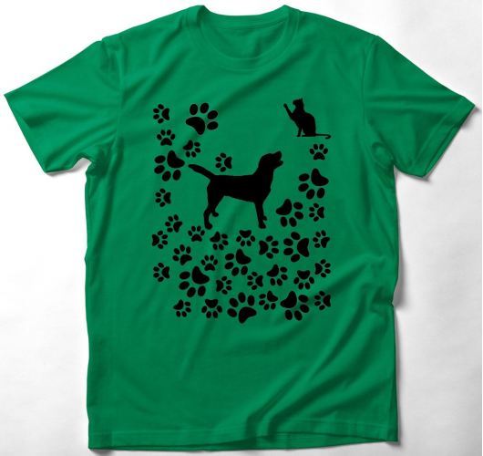 Kutya, cica barátság - Gyerek póló